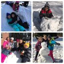 Island Avenue Students Playing in the Snow
