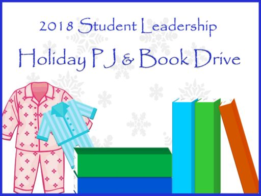Student Leadership PJ and Book Drive