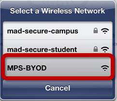 wifi network choice