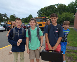 Middle school students ready to start the new school year!